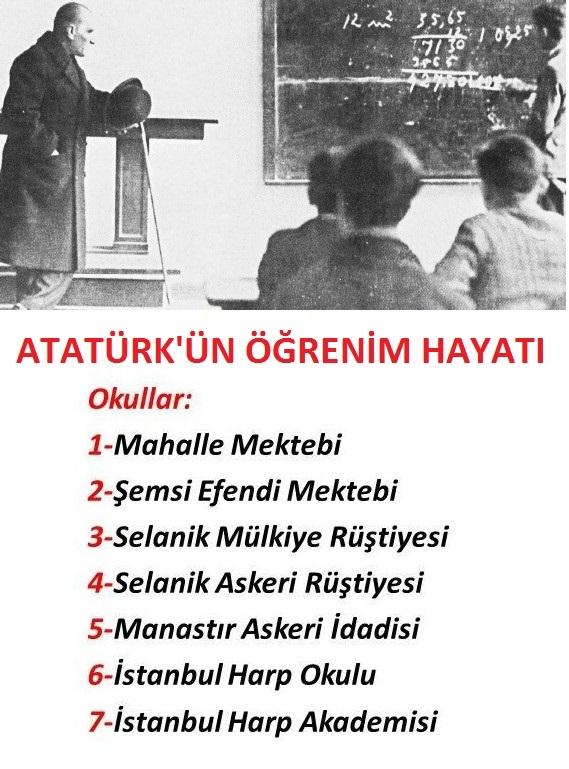 Atatürkün öğrenim Hayatı Atatürkün öğrenim Hayatı Kısaca